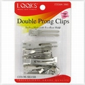 Pinces mise en plis métal 2 branches (Double prong clips)