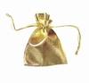 Goldcoloured jewelry bag (small)